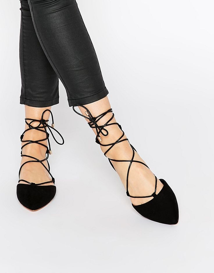 Black Ghillie Flats   Personal Style   Pinterest