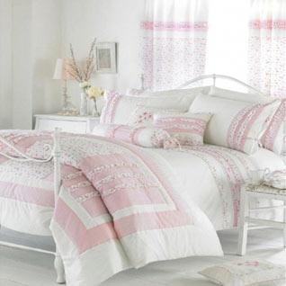 Vintage Duvet Cover Set - Pink
