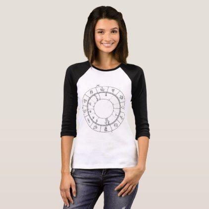 Unique horoscope wheel natal chart T-Shirt - cyo customize gift idea