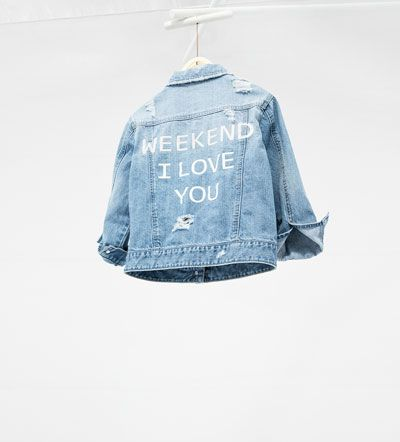 Image 2 of Denim jacket from Zara