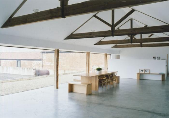 Downstairs?: Tilti Barns, John Pawson, Architects, Living Rooms, Hill Barns, Johnpawson, End Tables, Brick Houses, Barns Conver