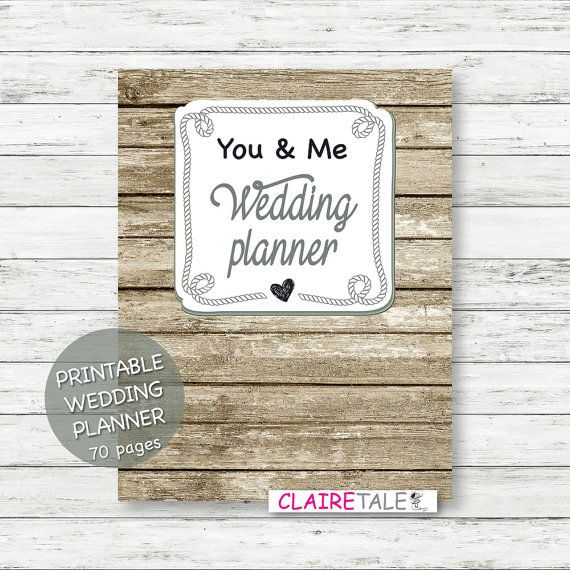 Flower wedding binder, Printable wedding checklist ...