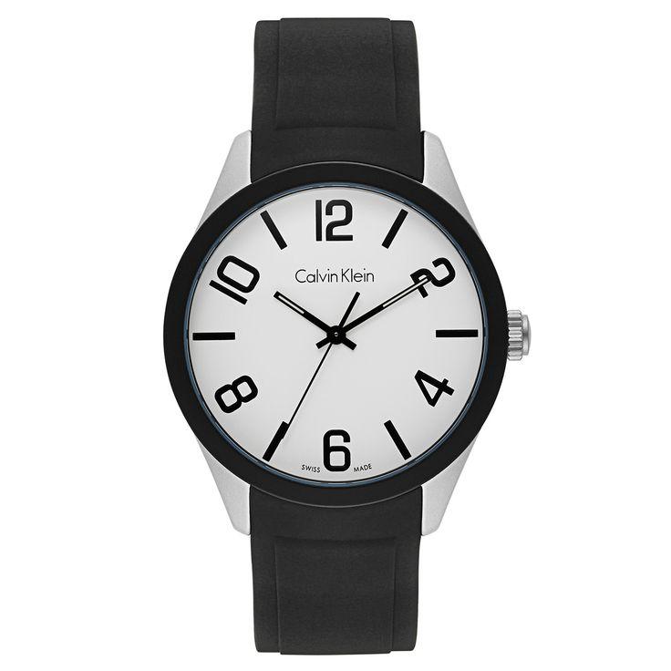 Calvin Klein Silicone and Aluminum Swiss Quartz Men's Watch