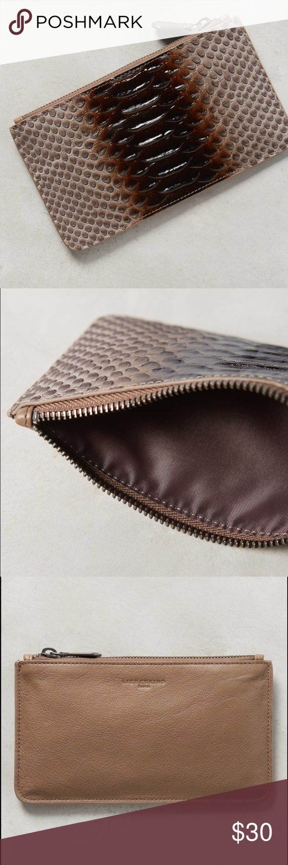 Sale!! Snakeskin Liebeskind Pouch Very stylish sophisticated snakeskin rabia brown pouch wallet. Excellent condition!! Gets many compliments!!! Liebeskind Bags Wallets