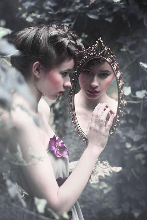 Mirror mirror on the wall. Fairytale reflection