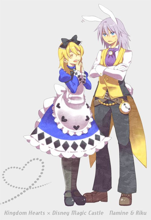 Kingdom Hearts Namine and Riku This Is Perfect I'm Doing An Alice And Wonderland Play~ωιℓ∂_ѕριяιт