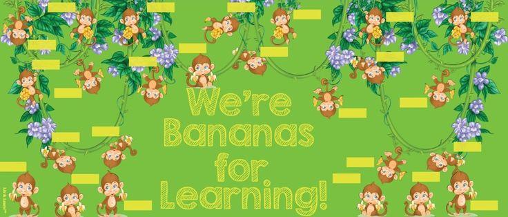 Monkey Bulletin Boards | Monkey Themed Classroom Decor