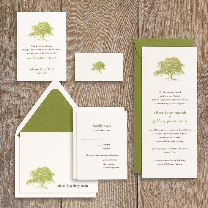 Oak Tree Wedding Invitation Alissa Jeffrey 34
