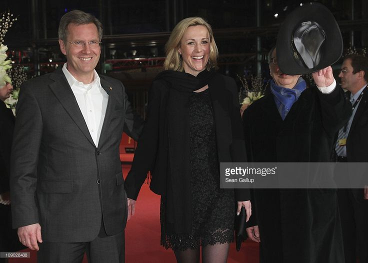 German President Christian Wulff, German First Lady Bettina Wulff and festival director Dieter Kosslick attend the 'Almanya - Willkommen in Deutschland' (Almanya) Premiere during day three of the 61st Berlin International Film Festival at Berlinale Palace on February 12, 2011 in Berlin, Germany.