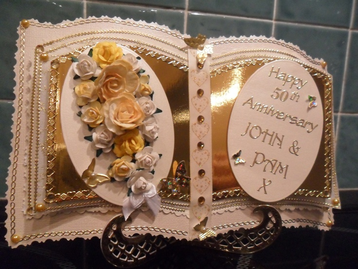 Bookatrix Golden wedding anniversary card.
