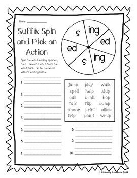 adding s and es worksheets