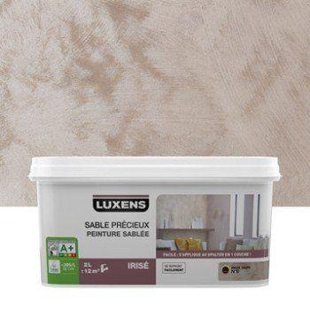 Peinture à effet, Sable précieux LUXENS, brun taupe 6, 2 l   Leroy Merlin