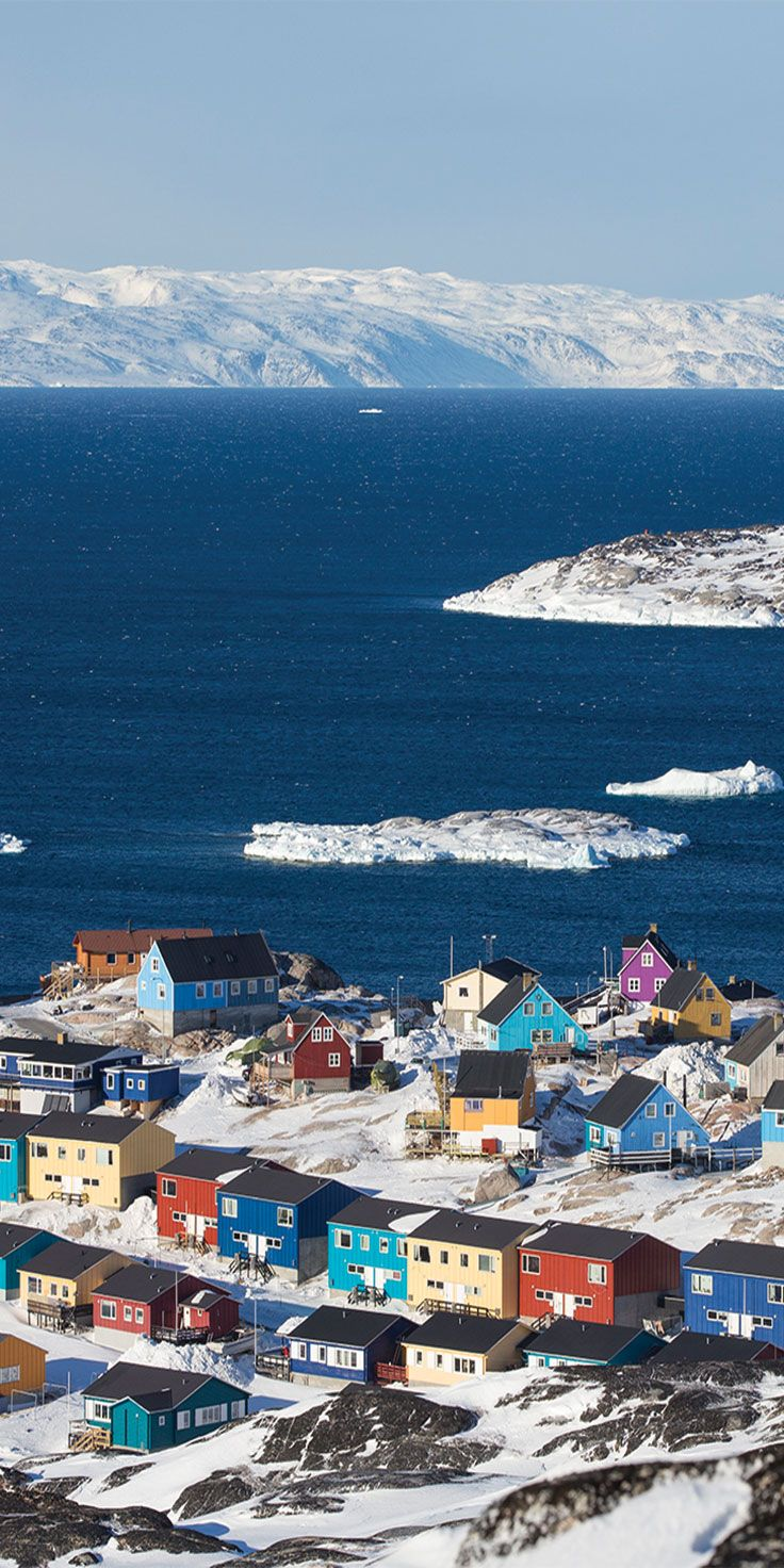 The colourful town of Ilulissat, Greenland - by Sean Scott