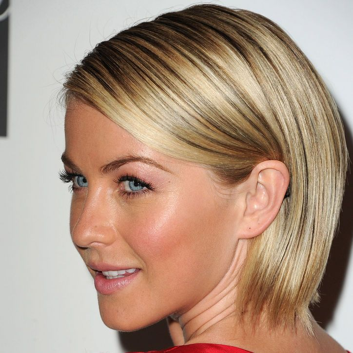 If You're Looking for a Weekend Project, Try Perfecting Your Highlighter Technique Using This Picture of Julianne Hough as Your Guide