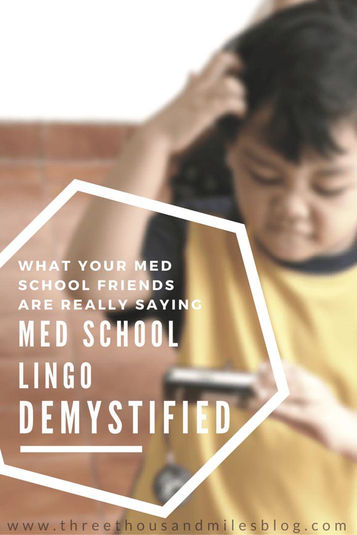 Med School Lingo Demystified Learn to