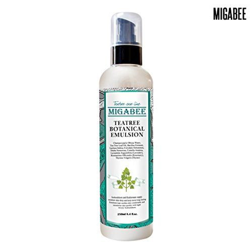 MIGABEE Teatree Botanical Emulsion 250ml 84 floz 100 Natural Ingredient Botanical Skin Care Sebum  Acne Control for Troubled Skin * Details can be found by clicking on the image.