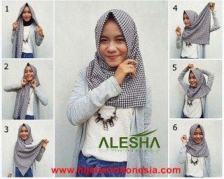 Tutorial Hijab monochrome untuk anak muda