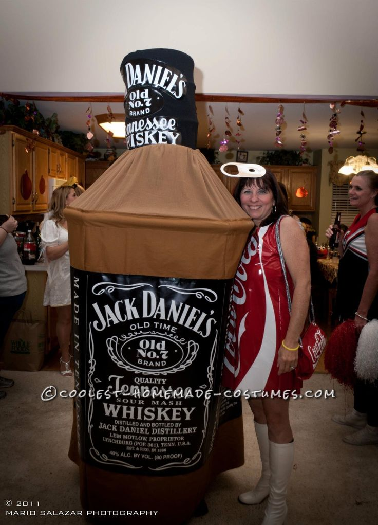 Original Jack and Coke Homemade Costume... This website is the Pinterest of costumes