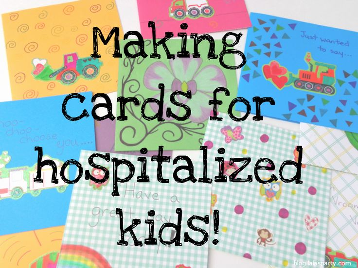 Family time project. Making cards for kids in the hospital and the organization Cards for Hospitalized Kids