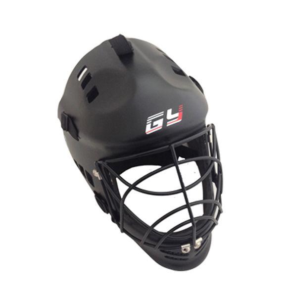 GY Neue Art Schwarz Hockey Helm Anwendung Für Feldhockey Und Straße Hockey Mit Boden ball Maske