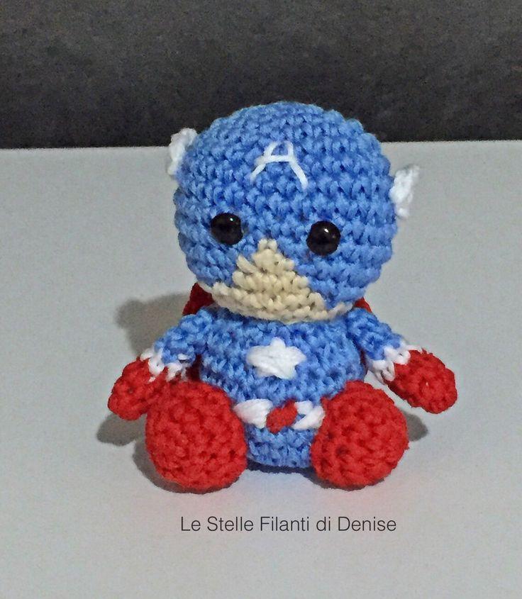 Captain America portachiavi amigurumi