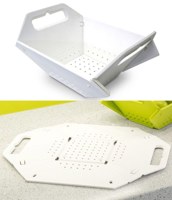 Folding colander and stores flat