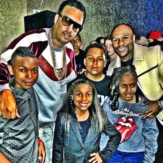 Shout Out To @FrenchMontana For Performing At My Son @king_koraun Birthday Party Last Night. He Asked For 70k But I Gave Him 200k For Coming Through For Me. My Other Two Children @moneyyaya And @zion_mayweather In The Pic With Us. #TMT