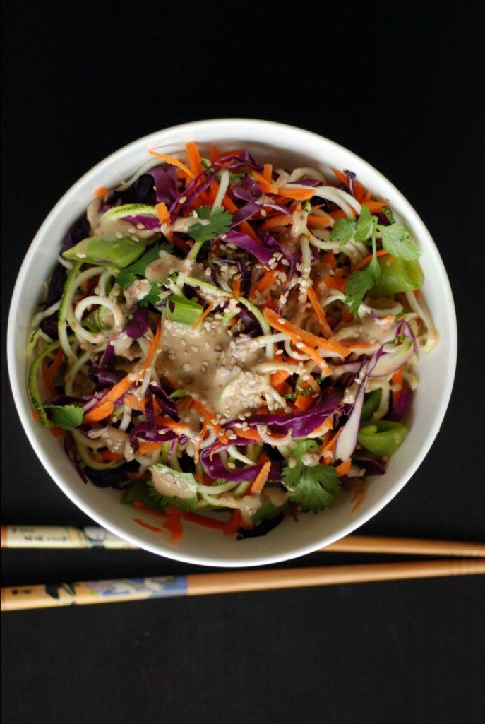 Colourful Veggie Tahini Noodles