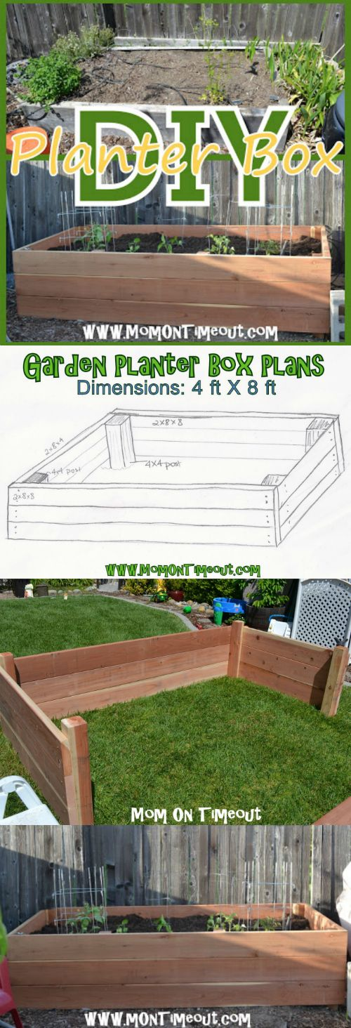 DIY Garden Planter Box Tutorial | MomOnTimeout.com