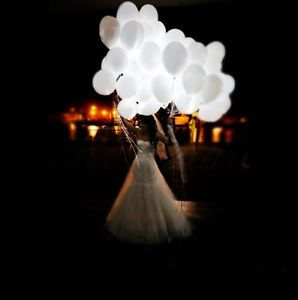 10pcs LED Light-up Balloon Light LED Inflatable Balloon Lamp for Party Wedding
