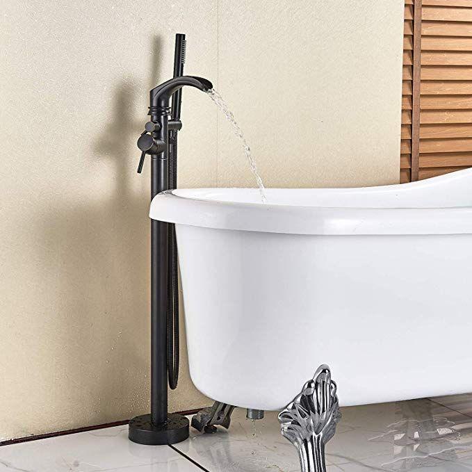 Senlesen Freestanding Bathtub Shower Mixer Taps Floor Mounted