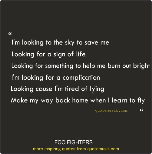 Learn to Fly Lyrics