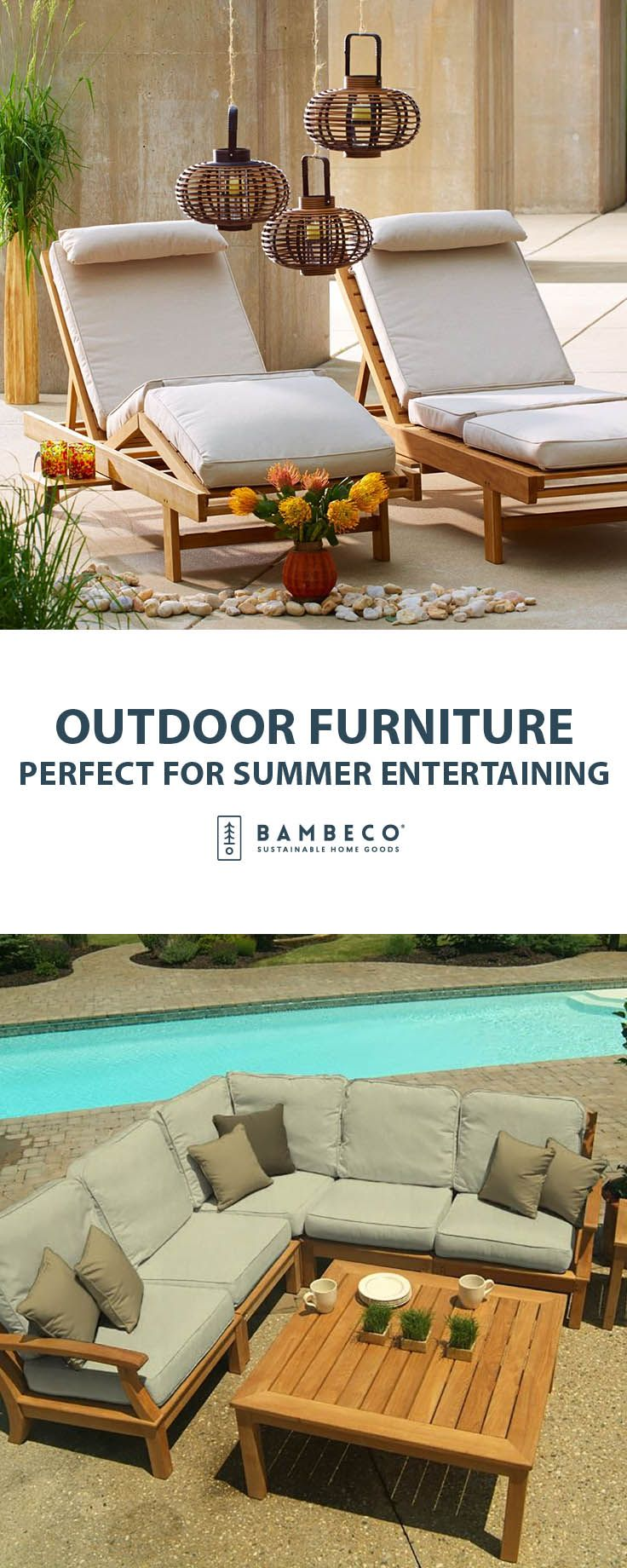 Add casual and cool eco-flair to your patio and yard with sustainable,  eco-friendly outdoor furniture from Bambeco.