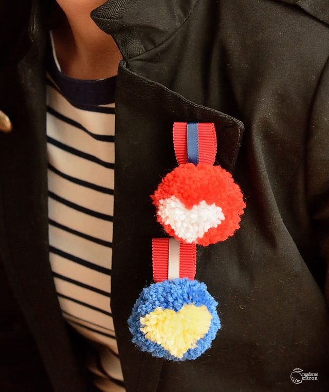 médailles-pompons Madame Citron