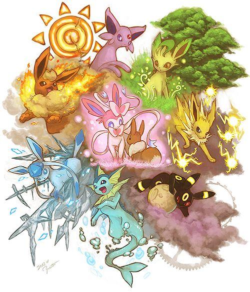 flareon, espeon, leafeon, sylveon, eevee, jolteon, glaceon, vaporeon, umbreon, pokemon