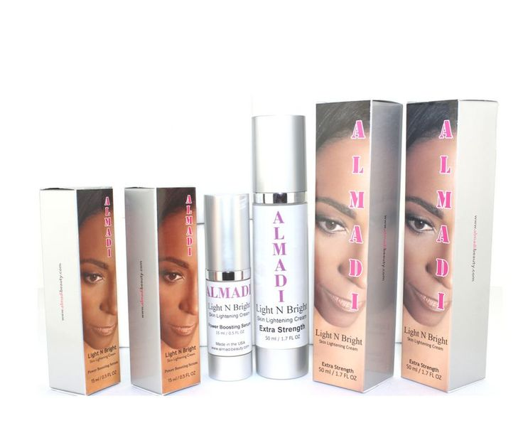 Almadi Light N Bright Skin Lightening Cream System Kit - 4 Pack Bundle Super Duper Deal