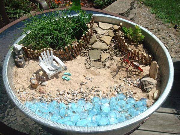 Beachy Fairy Garden