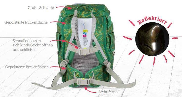 ergonomischer ergobag mini Rucksack für Kindergärtner