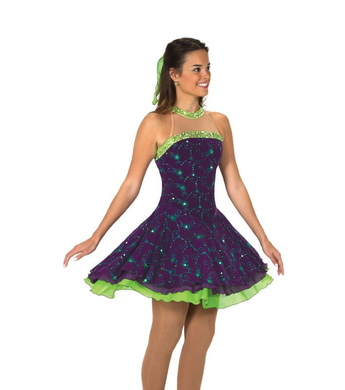 New Jerrys Competition Skating Dress 119 Swizzle Of Lime Made on Order | eBay