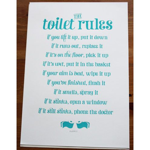 34 Best Images About House Rules On Pinterest Toilets Funny And Home Decor Signs