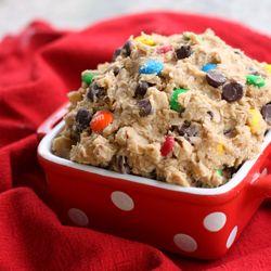 Monster Cookie Dough Dip...um...yum.: Sweet, Food, Cookie Dough Dip, Monsters, Monster Cookie Dough, Cookiedough, Dips, Dessert