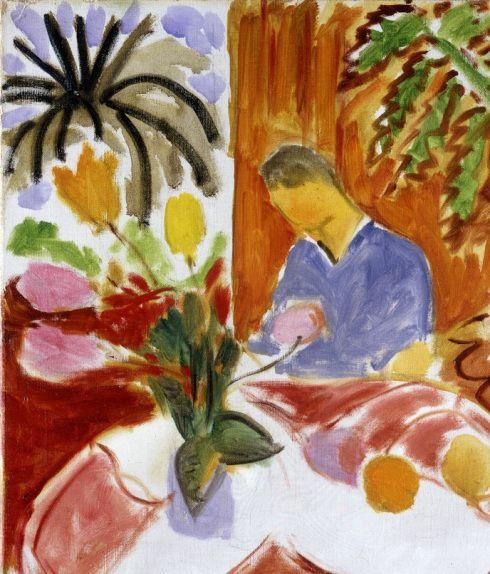 Henri matisse petit interieur a la table de marbre ronde for Interieur de ronde