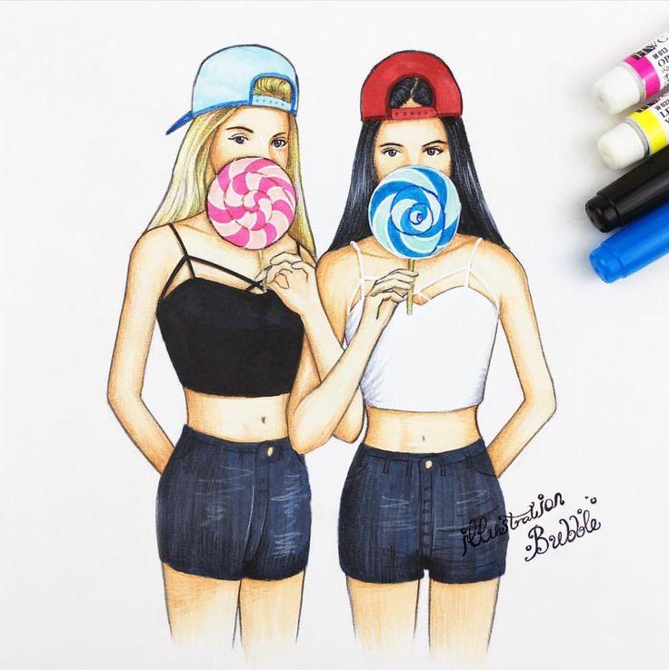 Best 25+ Cute girl drawing ideas on Pinterest