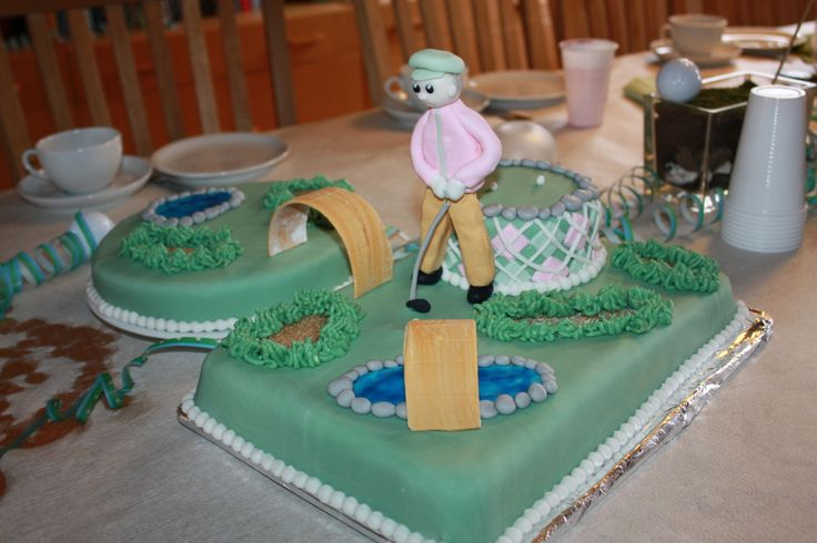 Golf cake for my son