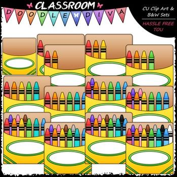 Counting Crayons Clip Art - Sequence, Counting & Math Clip Art