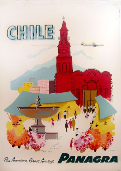 vintage travel posters Chile - Google Search