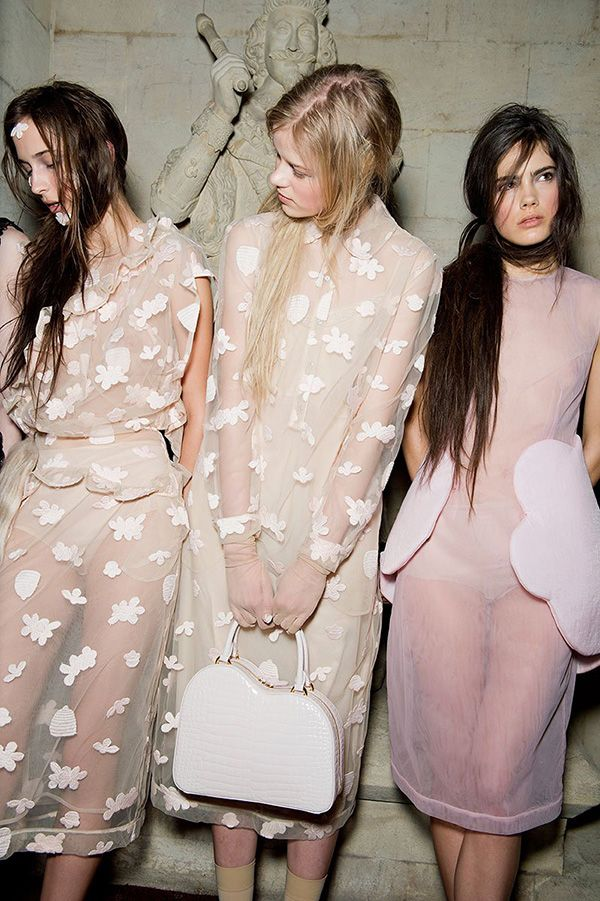 Favorite Color Palette (the soft hues of Simone Rocha's Runway Show via Vogue)