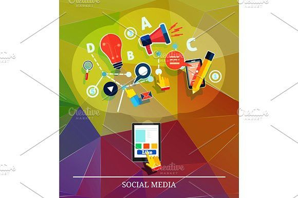Cloud of application icons. #social #media