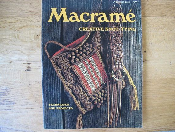 Nice macrame techniques book with lots of photos showing knotting methods. 11 by 8 1/4 inches in size. Good vintage used condition. Clean, no marks. All items are shipped via Canada Post letter mail. Shipping does not include tracking or insurance.  All of my vintage items are sold in