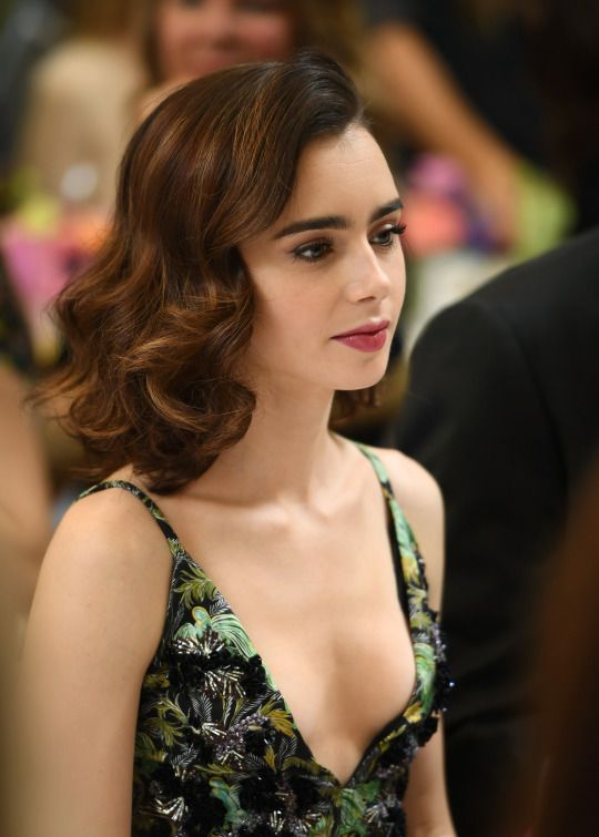 Opinion you Lily collins nude